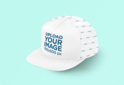 Front View Mockup of a Snapback Hat 3043-el1