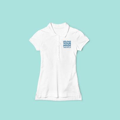 Flat Lay Mockup of a Women's Polo Shirt 3198-el1
