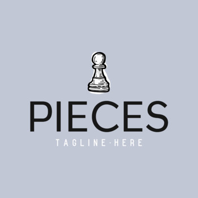 Logo Maker for a Chess Club with a Pawn Piece Graphic 429C-el1