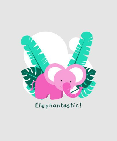 T-Shirt Design Generator Featuring a Sweet Baby Elephant 409b-el1
