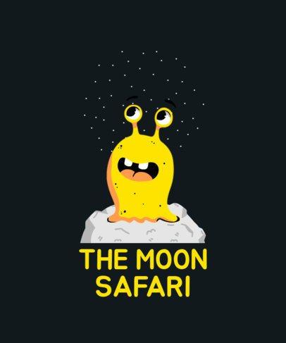 Kids T-Shirt Design Maker Featuring a Galactic Monster Graphic 410c-el1