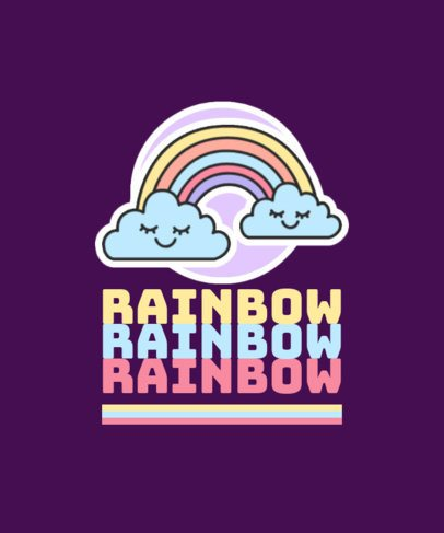 T-Shirt Design Generator Featuring a Happy Rainbow 421b-el1