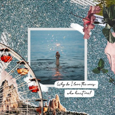 Instagram Post Maker Featuring a Scrapbook Design 2321a