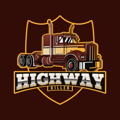 Trucking Company Logo Template with Earthy Colors 3014h