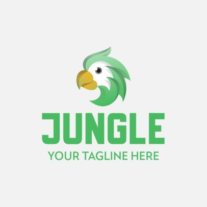 Company Logo Creator with a Friendly Parrot Graphic 342b-el1