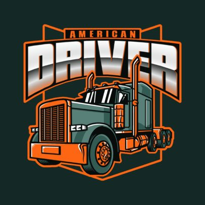 Transportation Company Logo Creator with a Powerful Truck Graphic 3014i