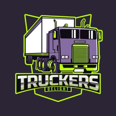 Strong Logo Maker for a Transportation Company 3014l