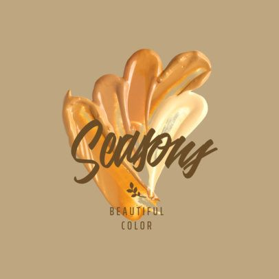 Makeup Logo Creator Featuring Multiple Shades of Foundation 3009f