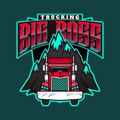 Trucking Company Logo Generator Featuring a Mountain Illustration 3014e