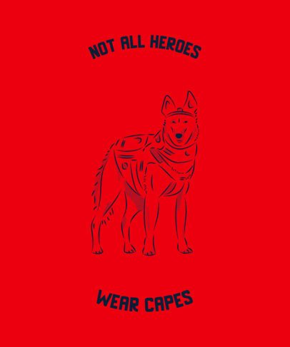 T-Shirt Design Creator with a Hero Dog 2316d