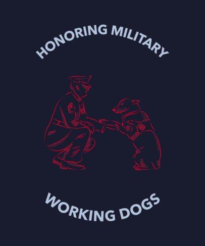 T-Shirt Design Maker Featuring a Military Dog 2316e