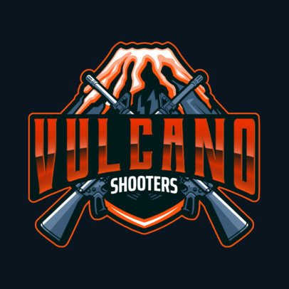 Gaming Team Logo Maker Featuring Two Guns and a Volcano 3019k
