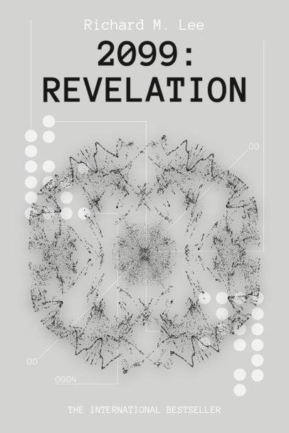Monochromatic Book Cover Design Maker With Sci-Fi Graphics 513b-el1