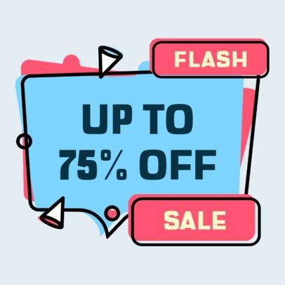 Sticker Design Template for a Flash Sale 2337d