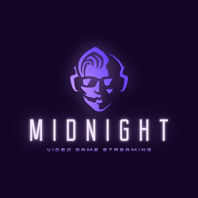 Gaming Logo Maker Featuring a Minimalist Face 3034b