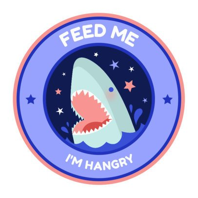 Sticker Design Creator Featuring a Hangry Quote 2338b