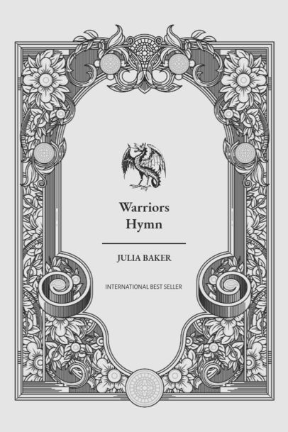 Fantasy Book Cover Template with a Dragon Graphic 498b-el1