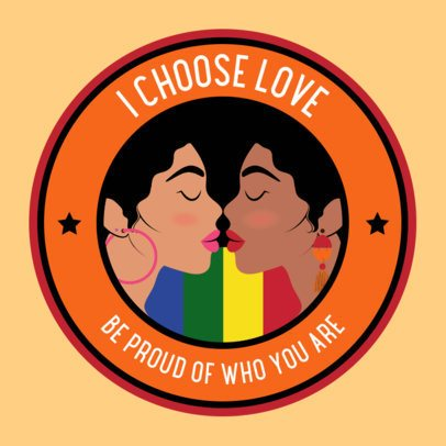 Sticker Design Template Featuring an LGBTQ Quote 2338h