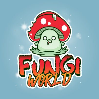 Mobile Gaming Logo Maker Featuring a Zombie Fungi Character 3043c
