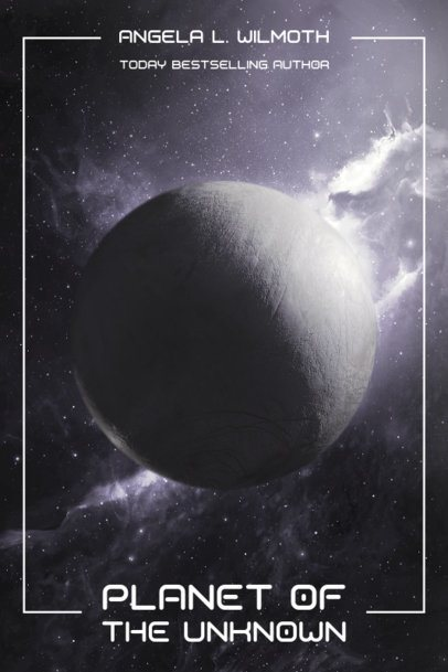 Sci-Fi Book Cover Generator with a Cosmos Background 512c-el1