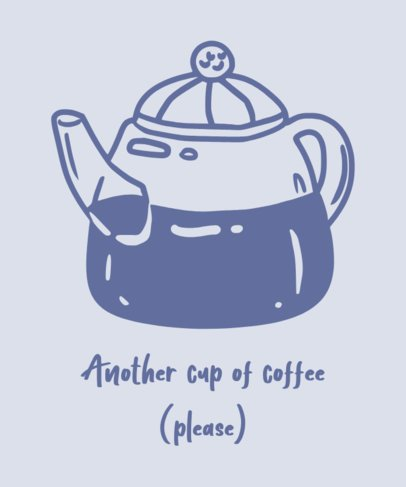 Coffee-Themed T-Shirt Design Maker with a Pot Graphic 462b-el1