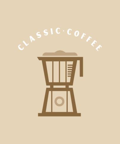 Coffee T-Shirt Design Maker with an Espresso Percolator 457a-el1