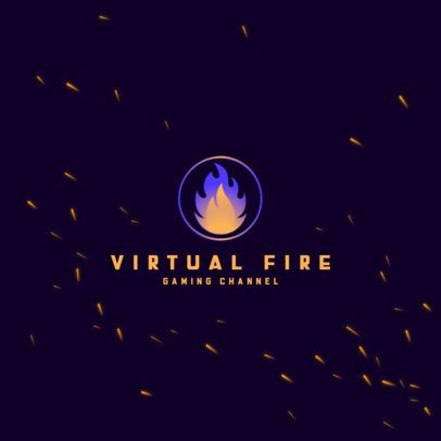 Logo Maker Featuring a Glowing Fire Graphic 3035b