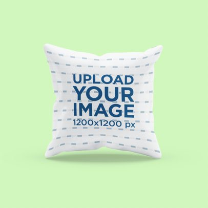 Mockup of a Sublimated Pillow with a Customizable Background 3257-el1