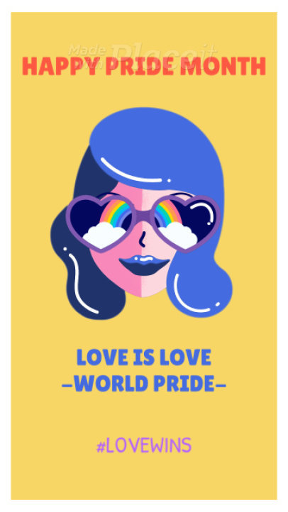 Instagram Story Video Maker for an LGBT Pride Post with Animations 1533