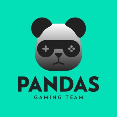 Logo Maker with a Gamer Panda Mascot 3044e