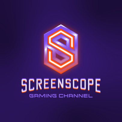 Gaming Channel Logo Maker Featuring Futuristic Letter Graphics 3070