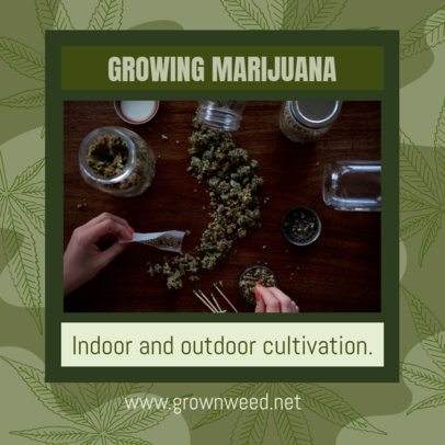 420-Allusive Facebook Post Template Featuring Cannabis Tips 2375