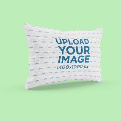 Mockup of a Horizontal Pillow Against a Plain Backdrop 3247-el1