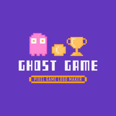 Logo Template Featuring Pixel Characters from Retro Video Games 3063e