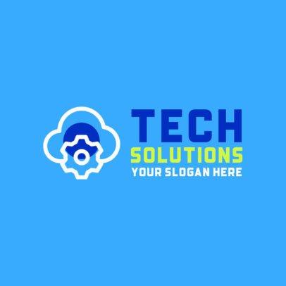 Logo Maker Featuring Modern Technology Graphics 593-el1