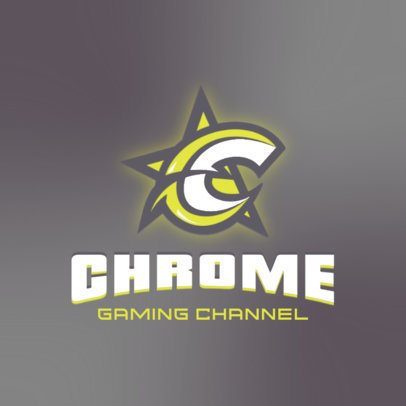 Gaming Logo Template for Streamers with Cool Letter Graphics 3070c