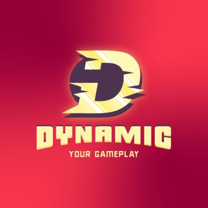 Gaming Logo Maker Featuring a Dynamic Letter Graphic 3070d