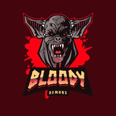 Logo Generator for a Gaming Team Featuring a Bloody Demon 3075a