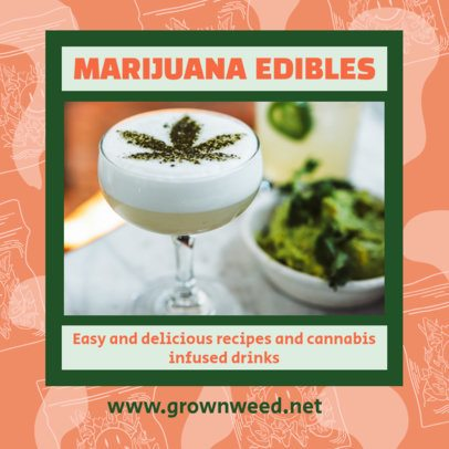 Facebook Post Maker Featuring Marijuana Edible Recipes 2375a