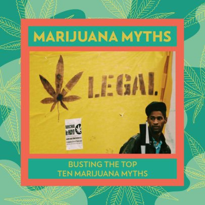 420-Allusive Facebook Post Maker Featuring Marijuana Myths 2375d