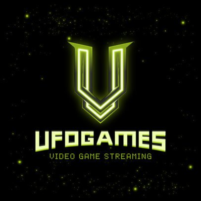Space-Themed Logo Generator for a Video Game Streaming Channel 3070p