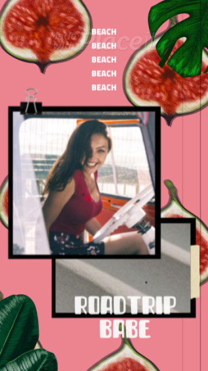 Summer Instagram Story Video Maker Featuring Pictures with an Animated Background 1726