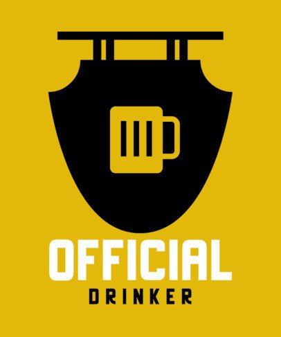 T-Shirt Design Creator for a Bar Featuring a Beer Badge 571a-el