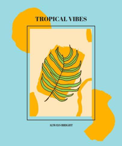 T-Shirt Design Maker Featuring Tropical Leaves Clipart 609-el1