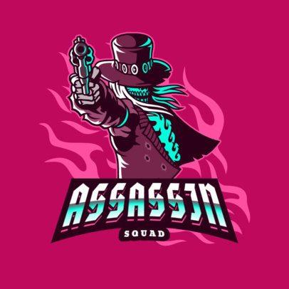 Gaming Logo Maker with an Assassin Skeleton 3075g