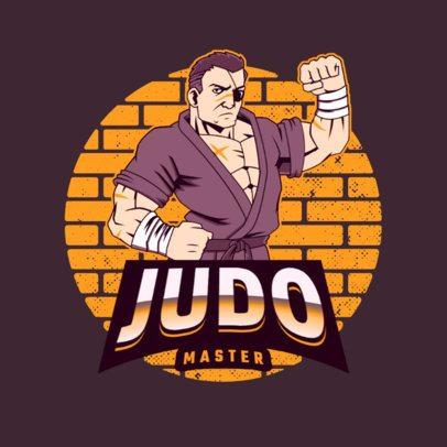 Gaming Logo Generator Featuring a Judo Fighter Illustration 3075f