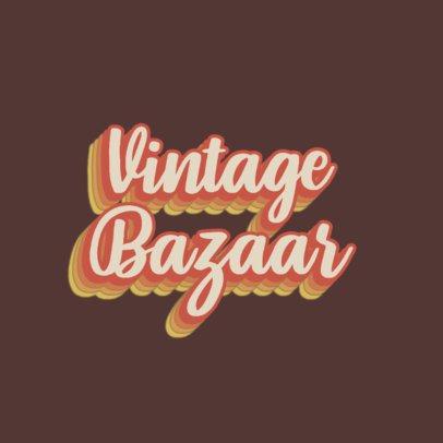 Logo Maker for a Vintage Bazaar 3030b