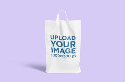 Mockup Featuring a Plastic Bag Placed Against a Customizable Background 3469-el1