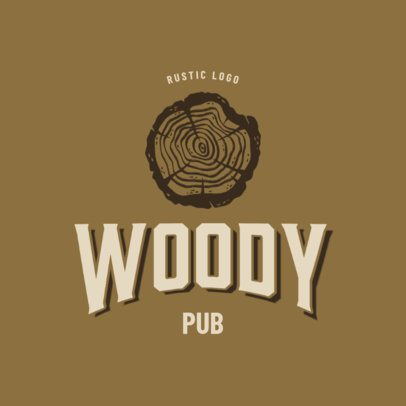 Pub Logo Generator Featuring Rustic Illustrations 3064e