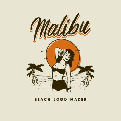 Clothing Brand Logo Maker Featuring Vintage Summer Graphics 3087